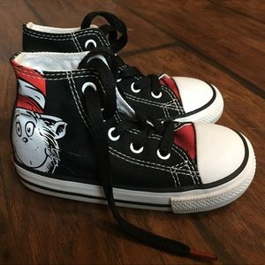 Kids Dr. Suess Converse High Top Shoes, Size 8
